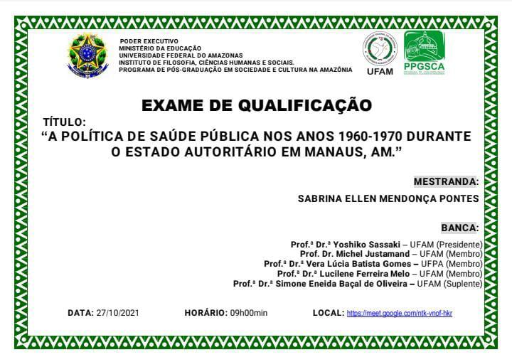 QUALIFICAÇÃO DE MESTRADO - SABRINA ELLEN MENDONÇA PONTES