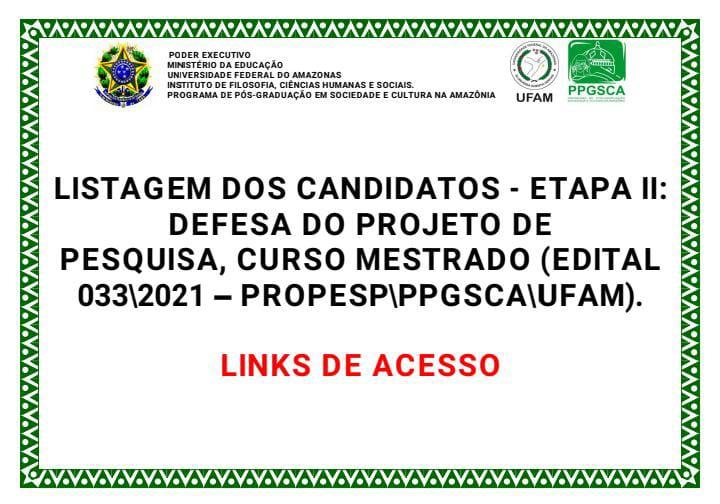 ETAPA II - EDITAL 033/2021