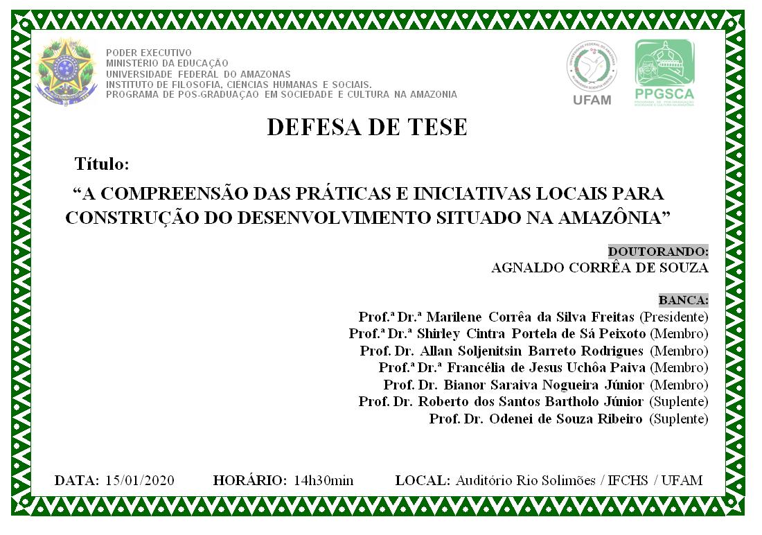 Defesa de Tese - Agnaldo Corrêa de Souza
