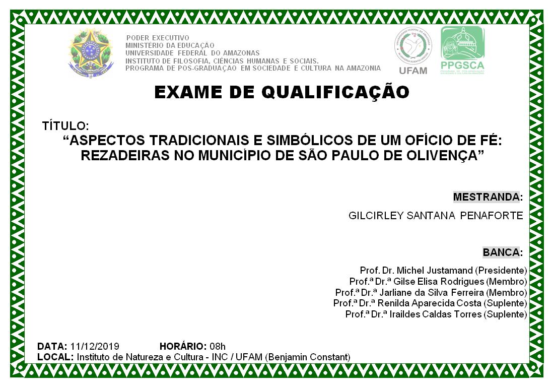 Exame de Qualificação Gilcirley Santana Penaforte