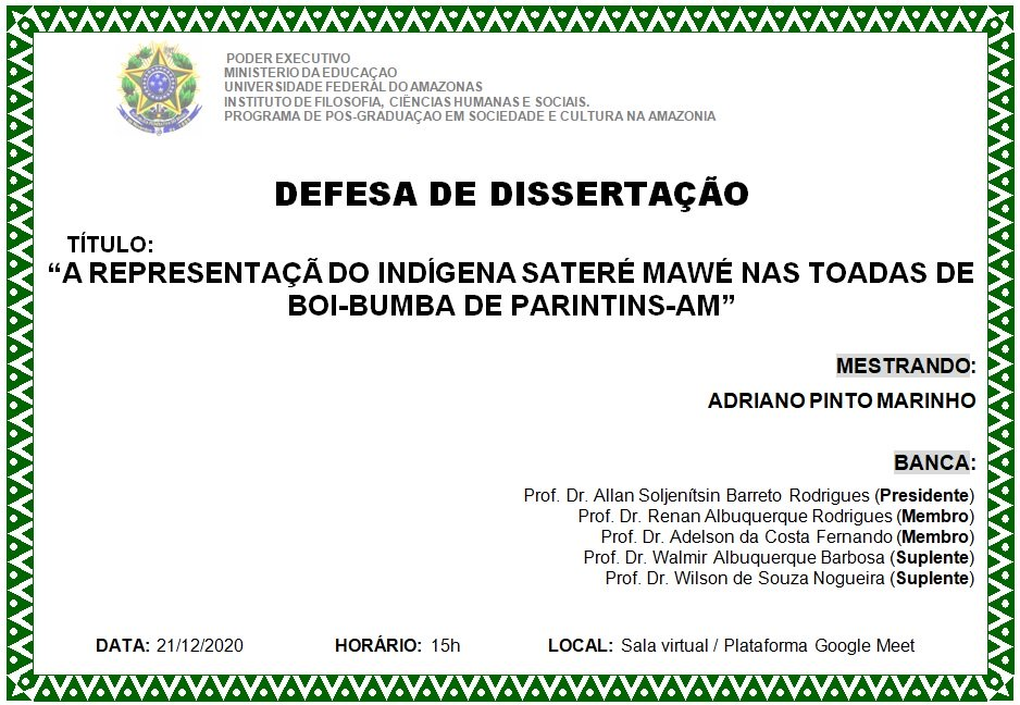 Defesa de dissertação Adriano Marinho