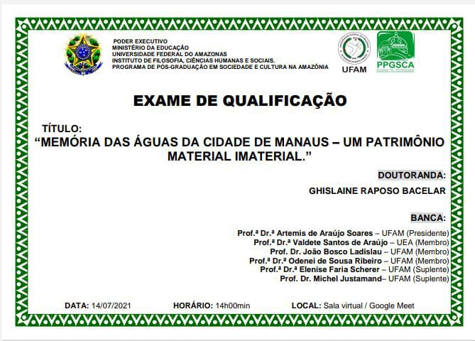 Exame de Qualificação - Ghislane Barcelar