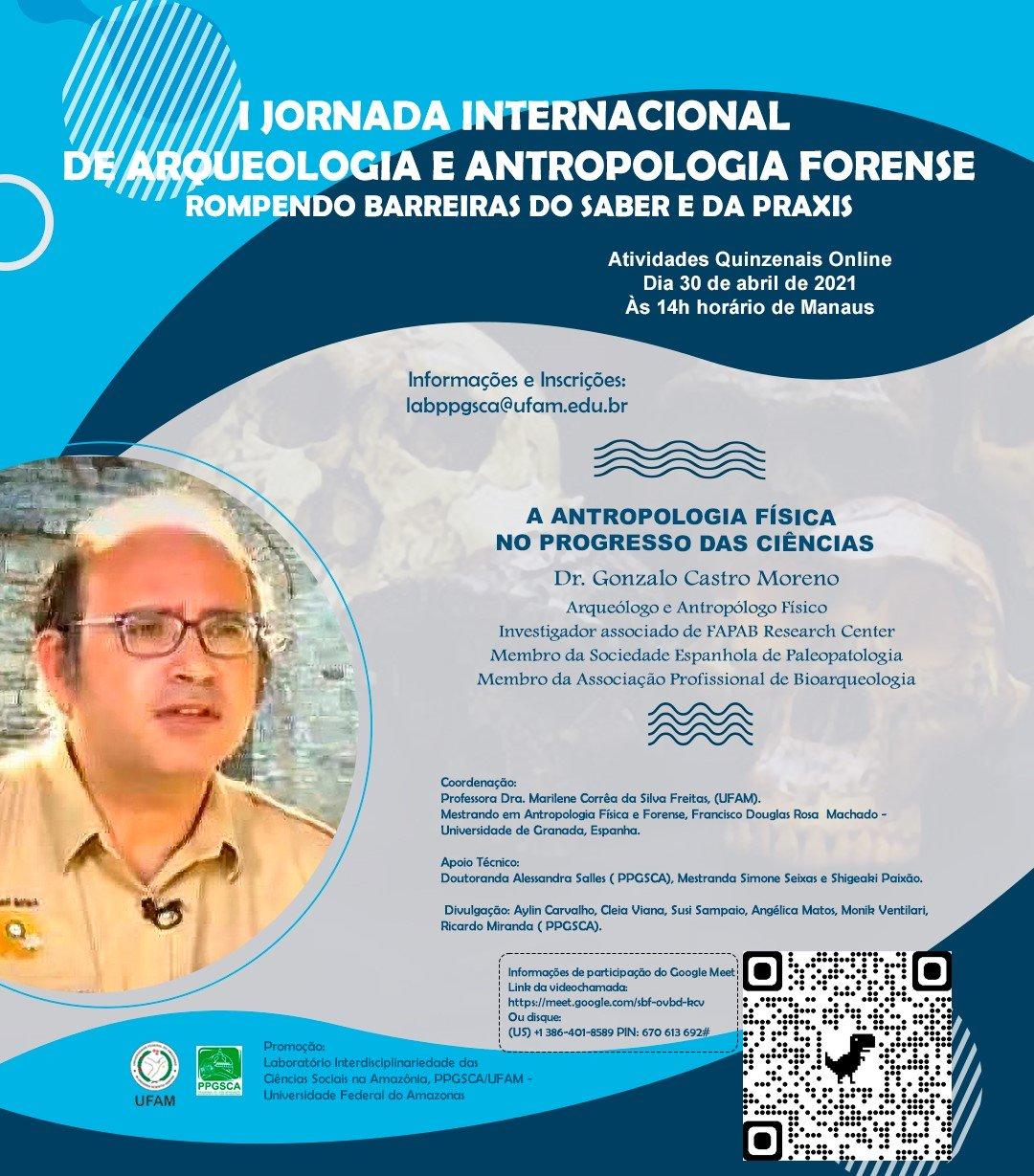 I JORNADA INTERNACIONAL DE ARQUEOLOGIA E ANTROPOLOGIA FORENSE