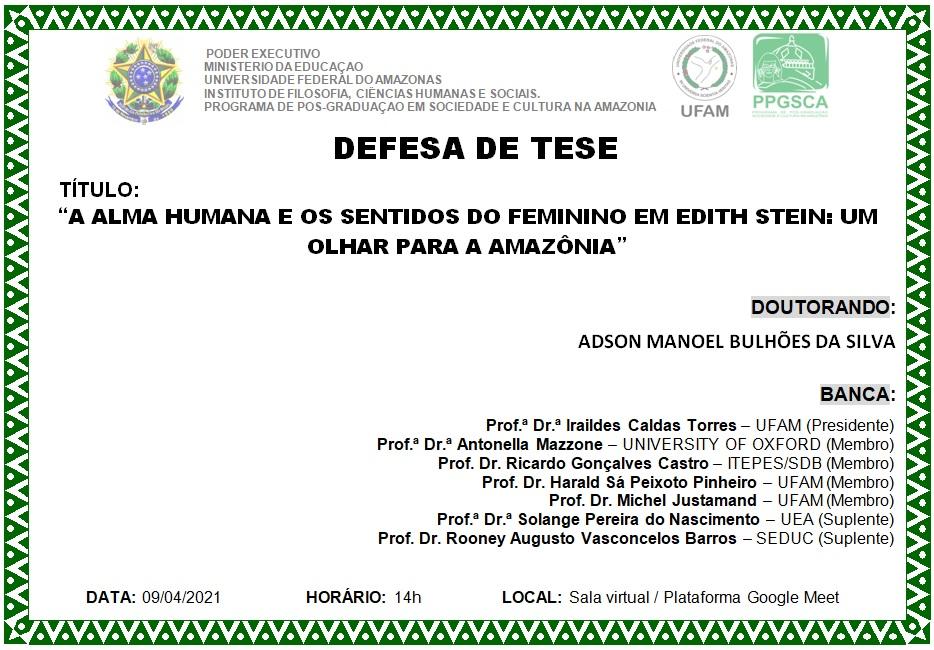 Defesa de Tese Adson Manoel