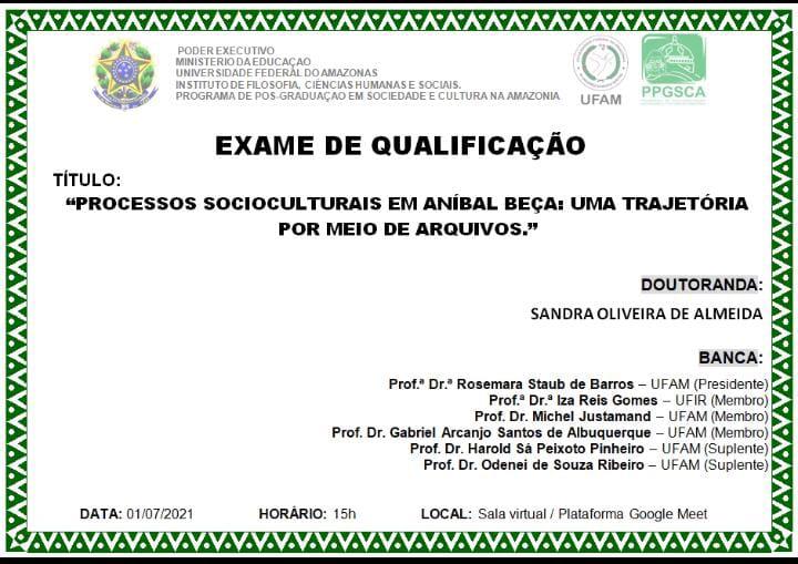 Exame de Qualificação - Sandra Almeida