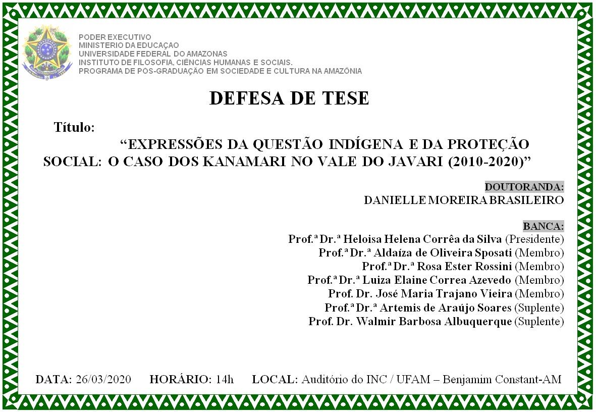 Defesa de Tese - Danielle Moreira Brasileiro