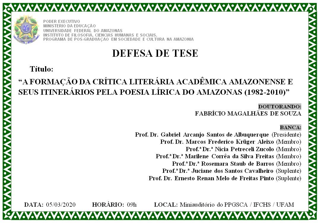 Defesa de Tese - Fabrício Magalhães de Souza