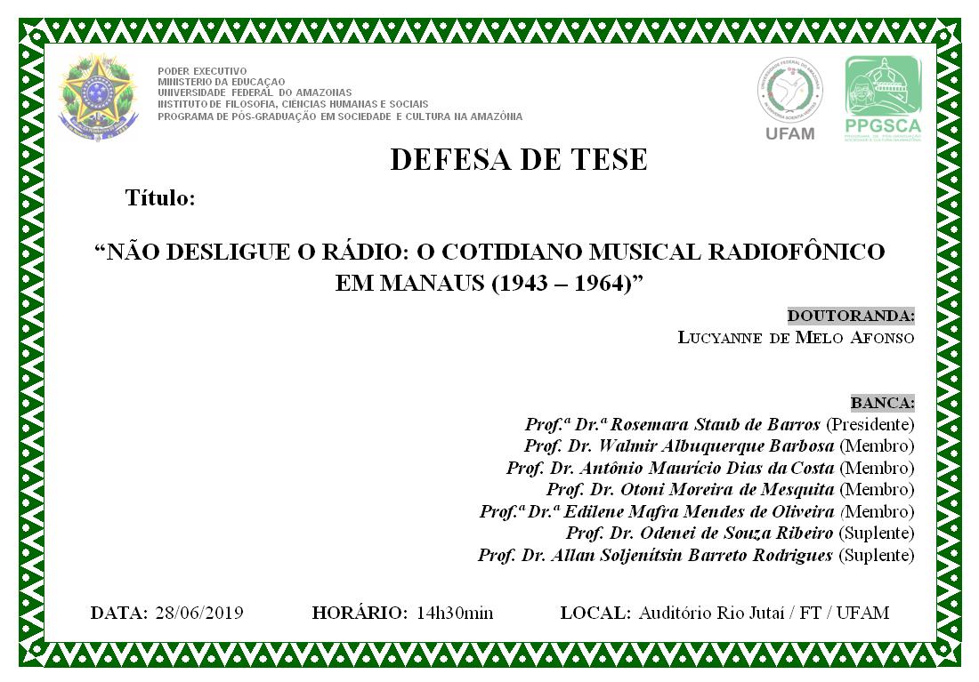 Defesa de Doutorado