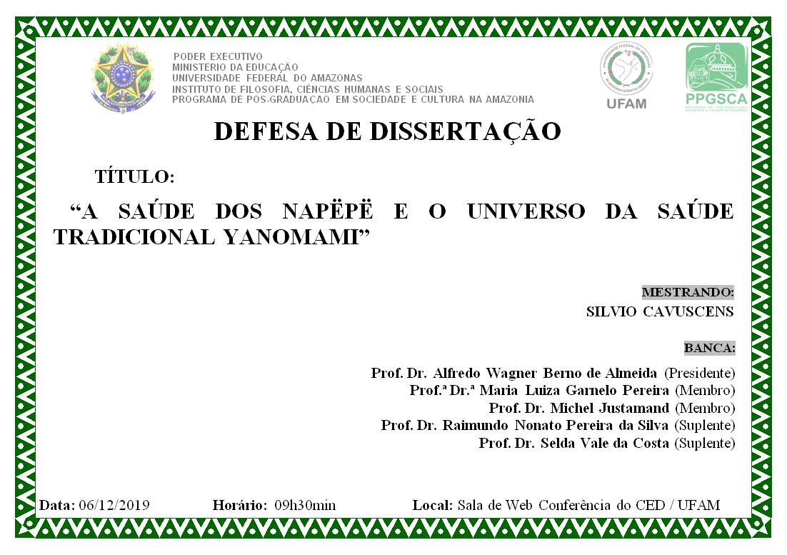 Defesa de Dissertação - Silvio Cavuscens