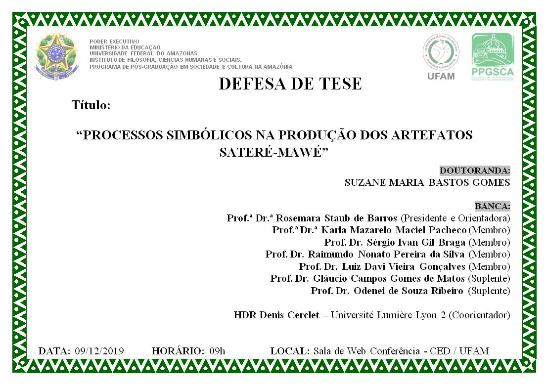 Defesa de Tese - Suzane Maria Bastos Gomes