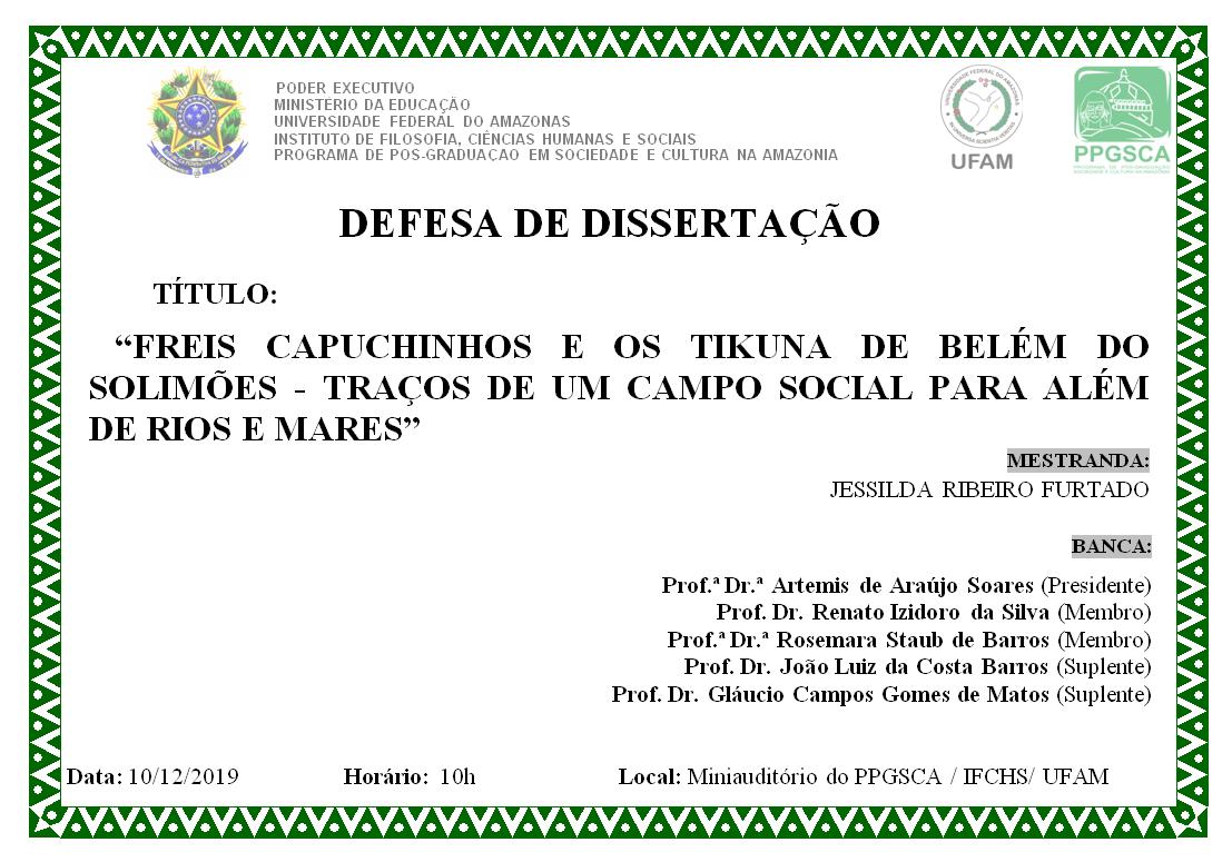 Defesa de Dissertação - Jessilda Ribeiro Furtado