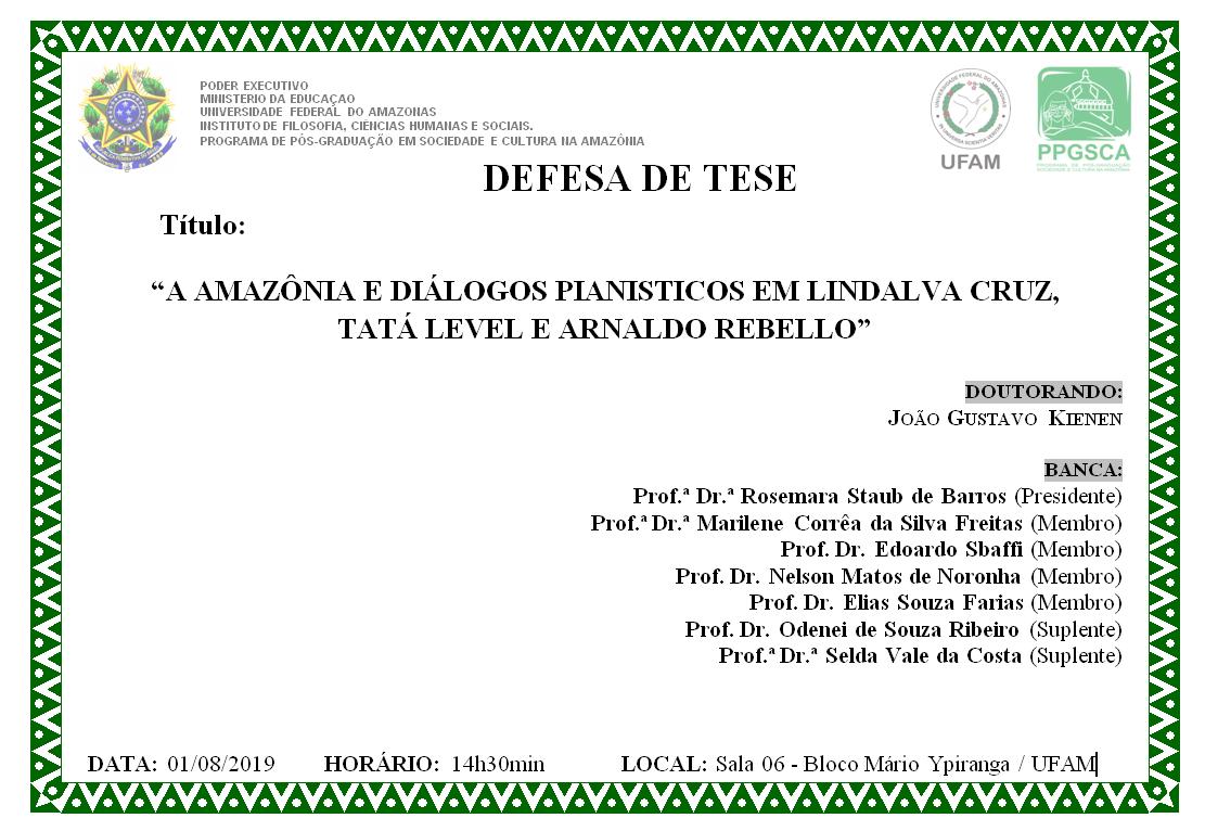Defesa de Tese João Gustavo Kienen