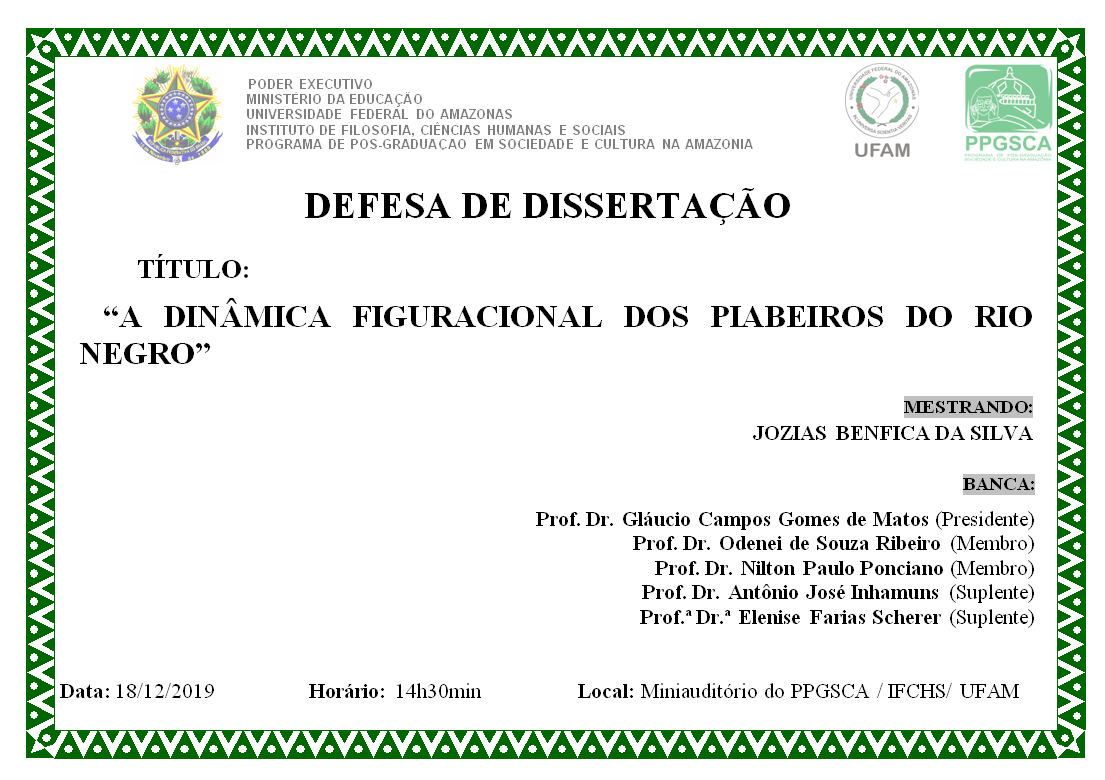 Defesa de Dissertação - Jozias Benfica da Silva