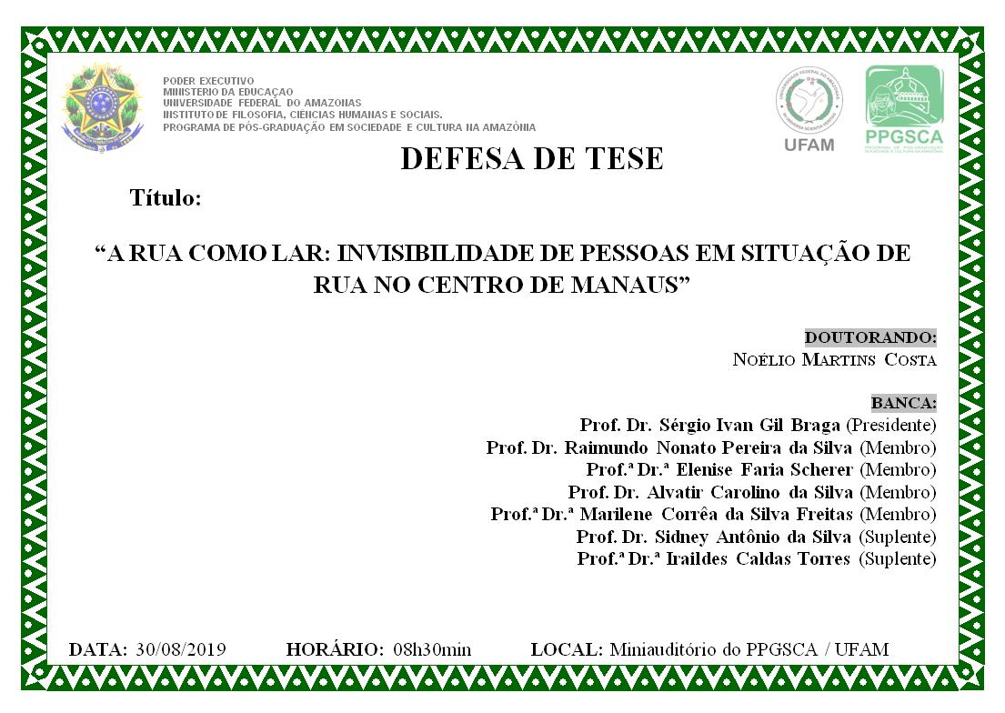 Defesa de Tese Noélio