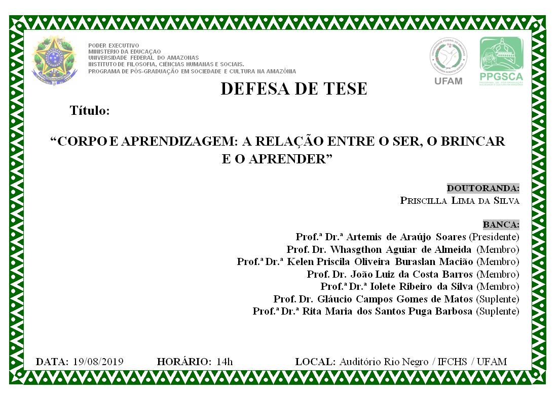 Defesa de Doutorado Priscilla Lima da Silva
