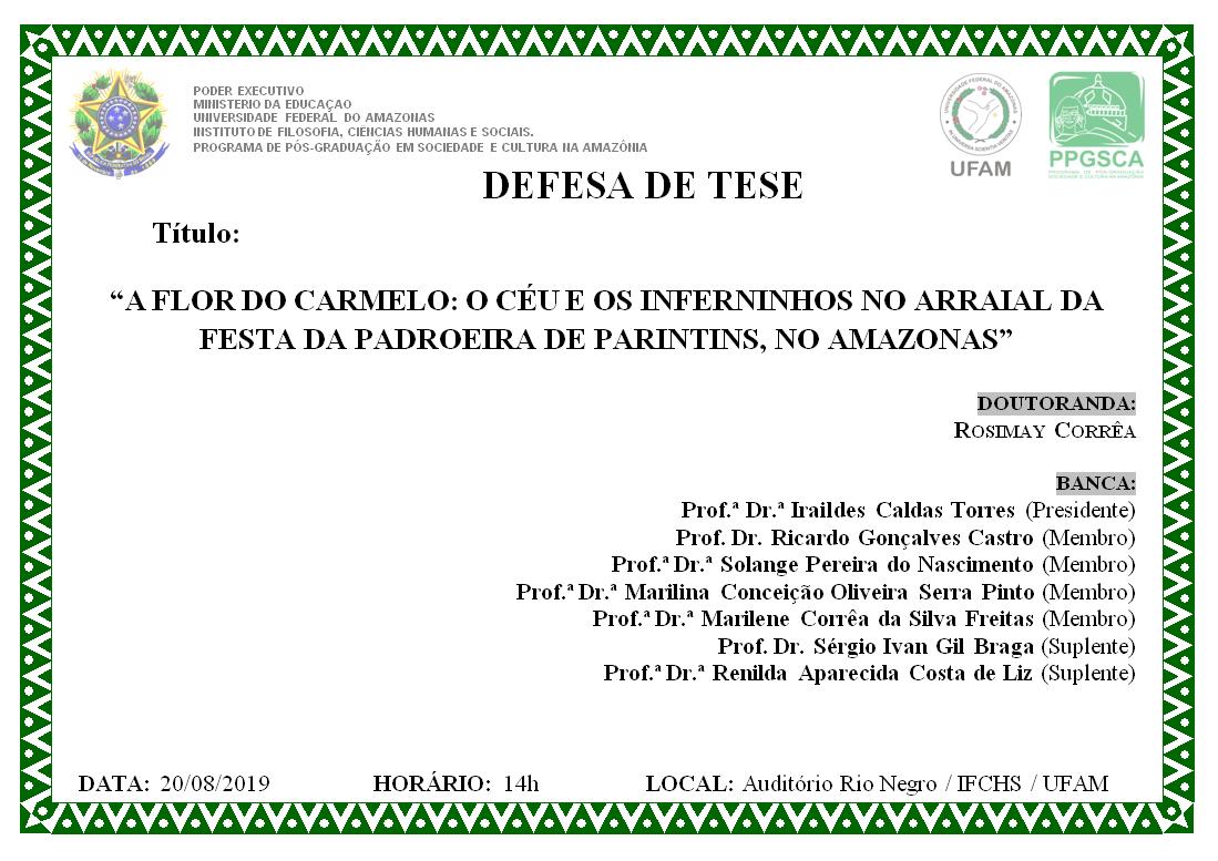 Defesa Tese Rosimay