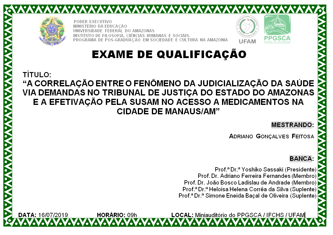 Exame de Qualificação Adriano Feitosa