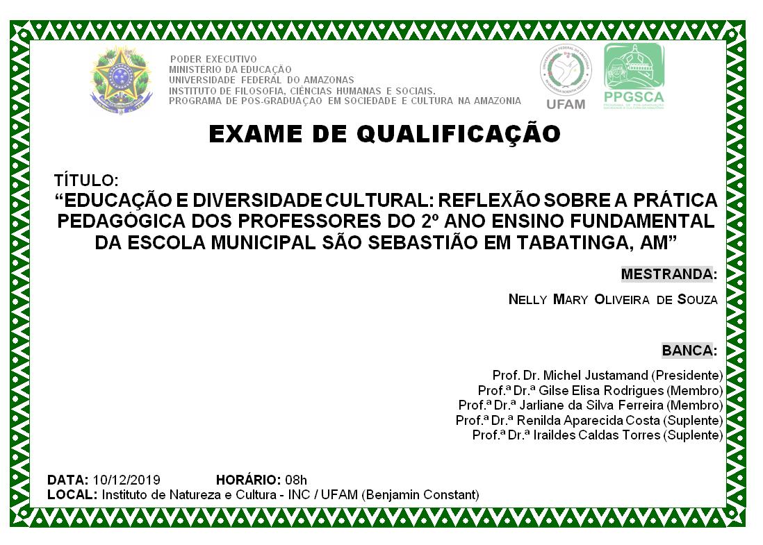 Qualificação Mestrado - Nelly Mary Oliveira de Souza