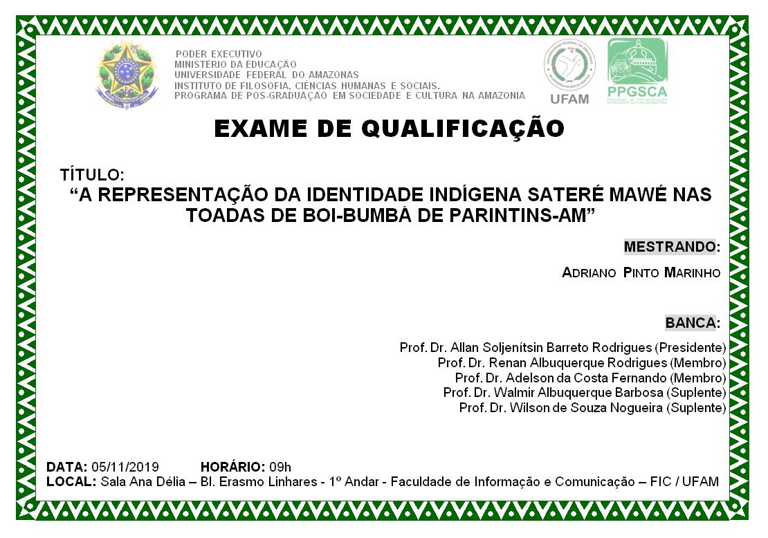 Exame de Qualificação Adriano Pinto Marinho