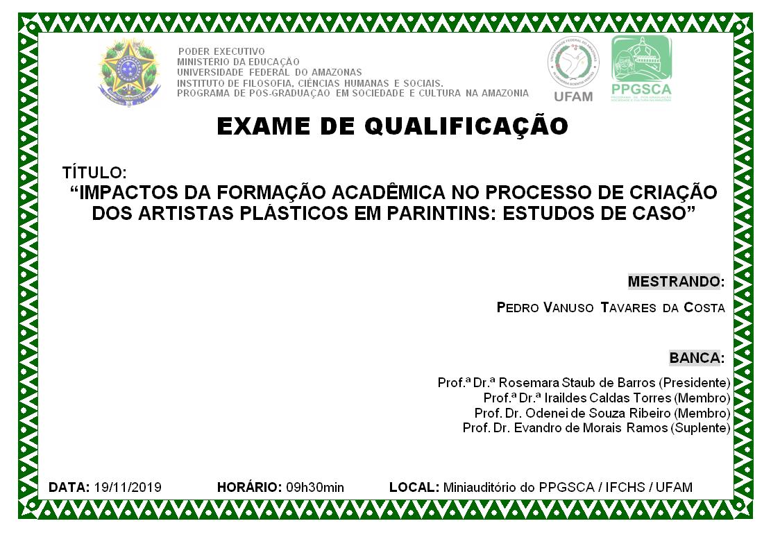Qualificação Mestrado Pedro Vanuso Tavares da Costa