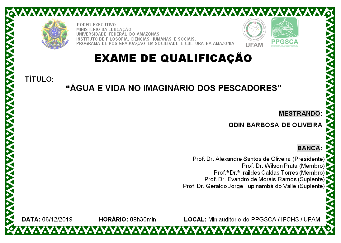Exame de Qualificação Odin Barbosa de Oliveira
