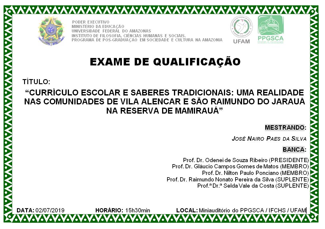 Exame de Qualificação José Nairo